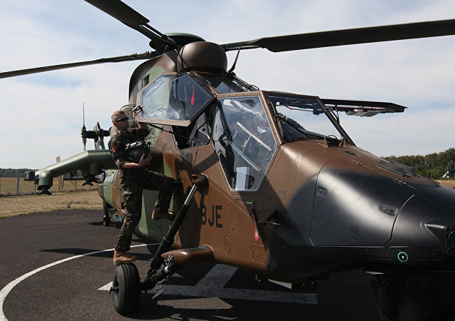 Helicóptero Airbus Tiger em Varsóvia, Polônia.