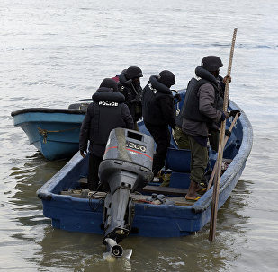Marine police officers, Nigeria