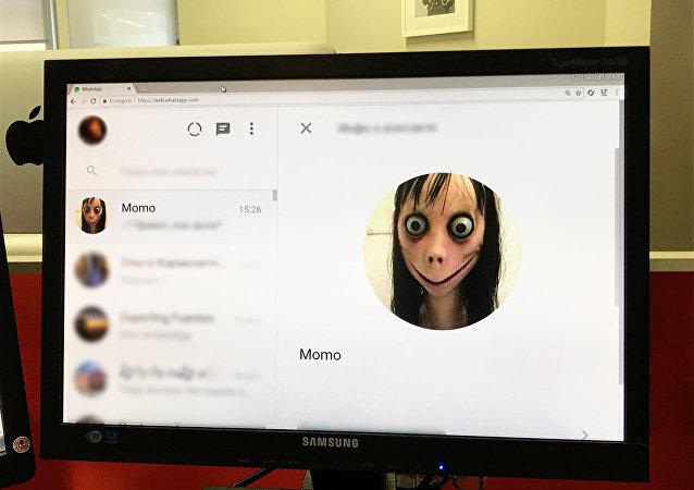 Conta 'Momo' no aplicativo de mensagens instantâneas WhatsApp