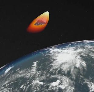 Lançamento do famoso míssil Avangard, apresentado em 1º de março deste ano pelo presidente russo, Vladimir Putin