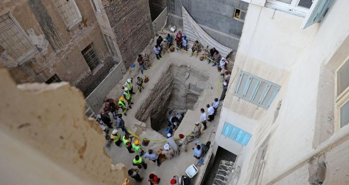 Área residencial onde o sarcófago foi descoberto