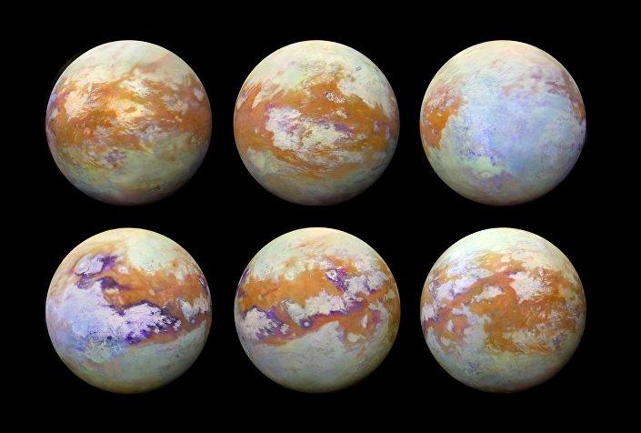 Imagens em infravermelho da superfície de Titã, a maior lua de Saturno