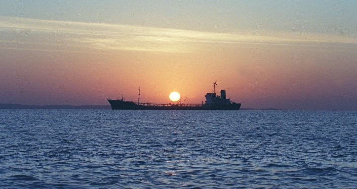 An Iranian water storage tanker sails off the coast of Qeshm Island in the Strait of Hormuz, one of the world's most important waterways (File)