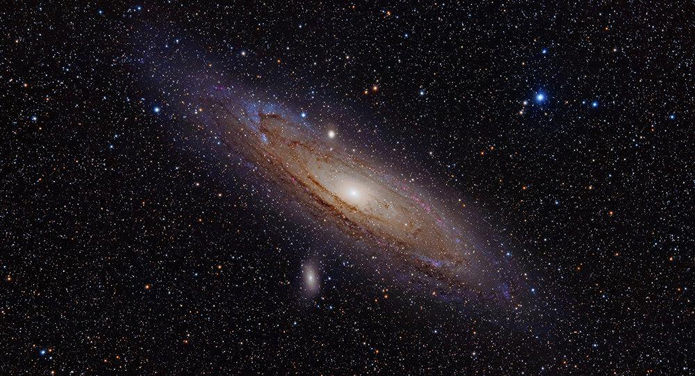 A galáxia Andrômeda