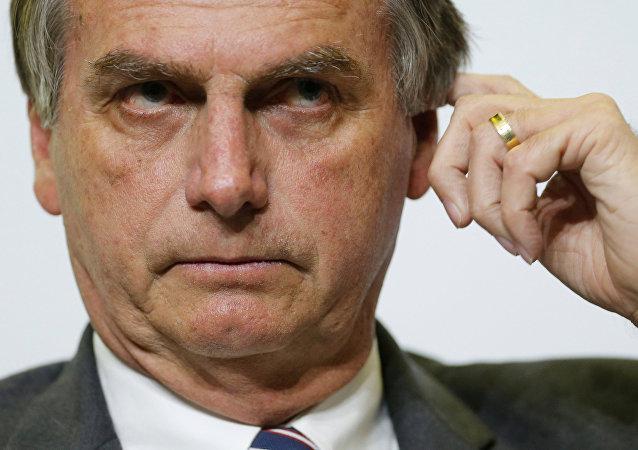 Jair Bolsonaro, deputado federal do Brasil e candidato às eleições presidenciais