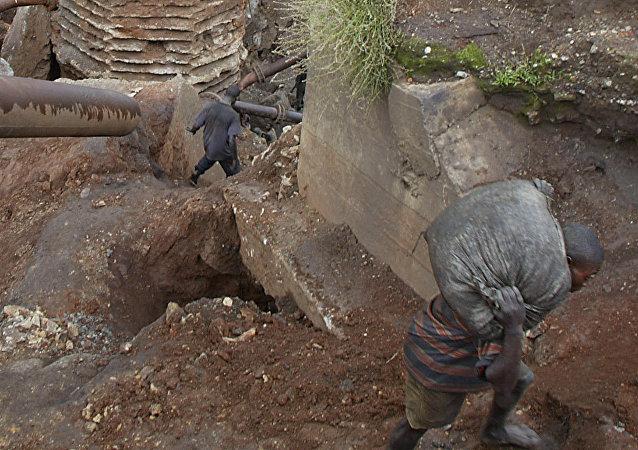 Uma mina de cobalto na República Democrática do Congo
