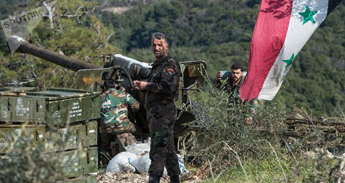 Soldados do Exército sírio na província de Idlib (foto de arquivo)