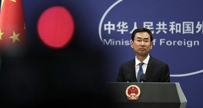 O porta-voz da chancelaria chinesa, Geng Shuang
