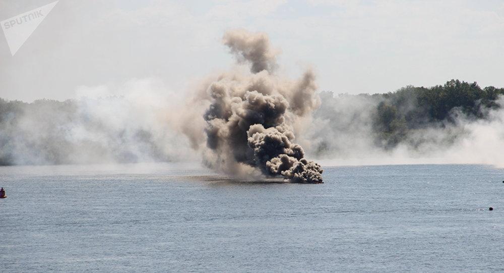 Explosão de mina (foto de arquivo)