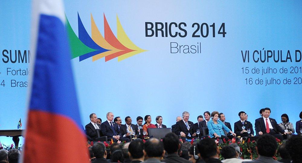 Reunião de cúpula do BRICS na cidade de Fortaleza, em julho de 2014