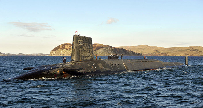 Submarino nuclear britânico Trident HMS Victorious