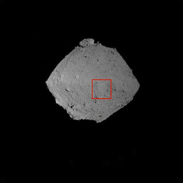 Imagem do asteroide Ryugu a partir da câmera navegacional da Hayabusa-2