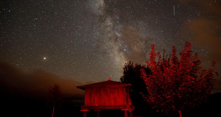 A chuva de meteoros Perseidas vista na Espanha