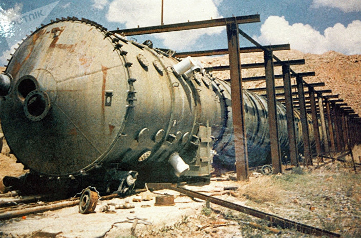Equipamento para provas nucleares no campo de provas de Semipalatinsk