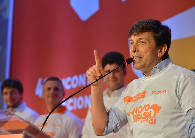 João Amoêdo na convenção partidária do Novo.