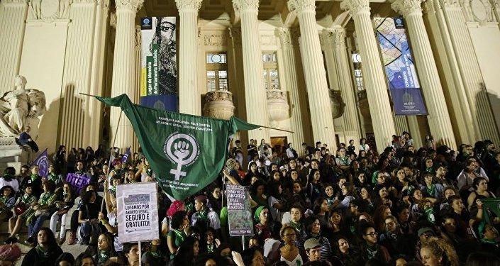 Marcha pela legalização do aborto na América Latina, no Rio de Janeiro