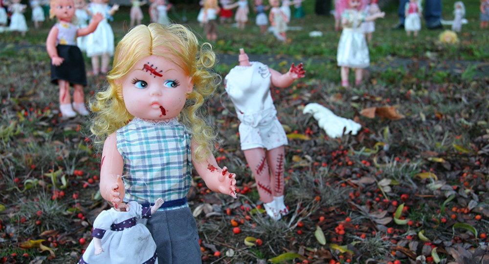 Bonecas de festa de Halloween (imagem referencial)