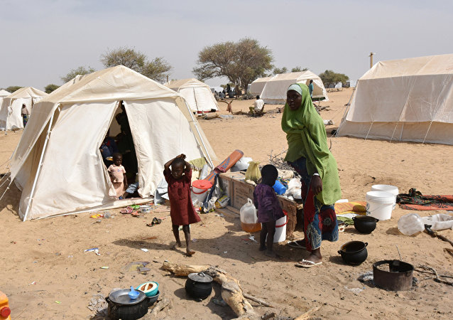 Campo de refugiados nigerianos em Baga Sola (Chade)