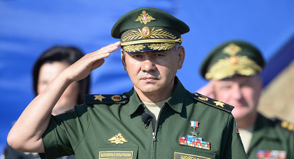 Ministro da Defesa da Rússia Sergei Shoigu