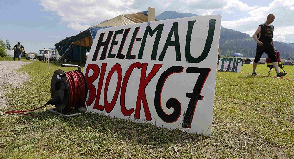Opositores do G7 acampam nos arredores de Garmisch-Partenkirchen, próximo a Elmau.