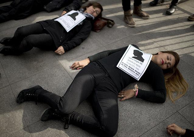 Protesto contra o feminicídio em Santiago, no Chile (arquivo)