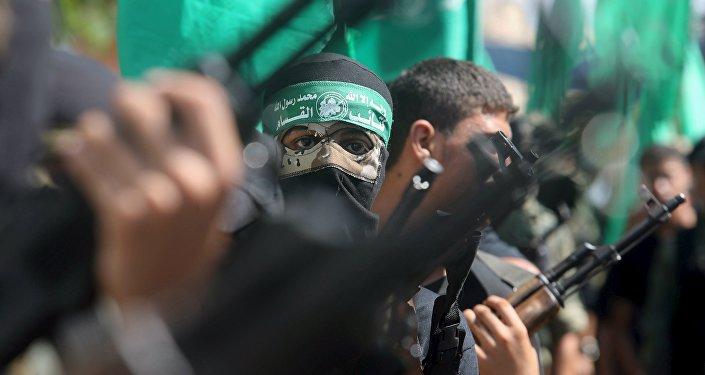 Militantes palestinos do Hamas (foto de arquivo)