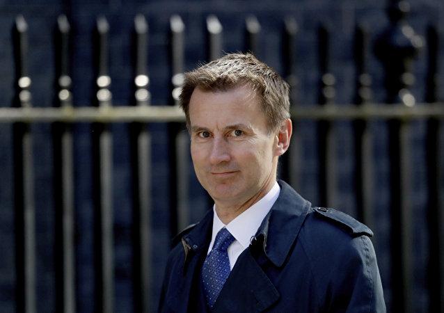 Jeremy Hunt, secretário de Relações Exteriores do Reino Unido