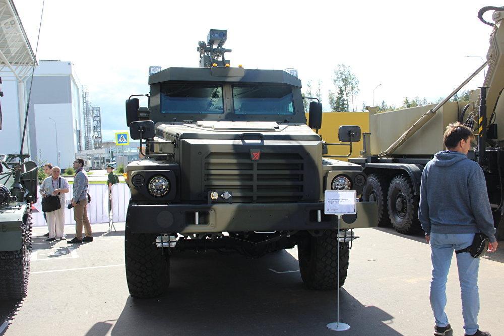 Caminhão blindado Patrul é mostrado durante o fórum militar EXÉRCITO 2018
