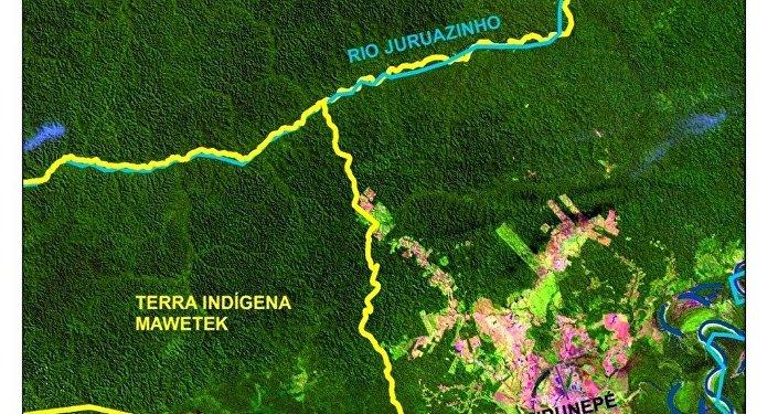 Mapa de terras indígenas