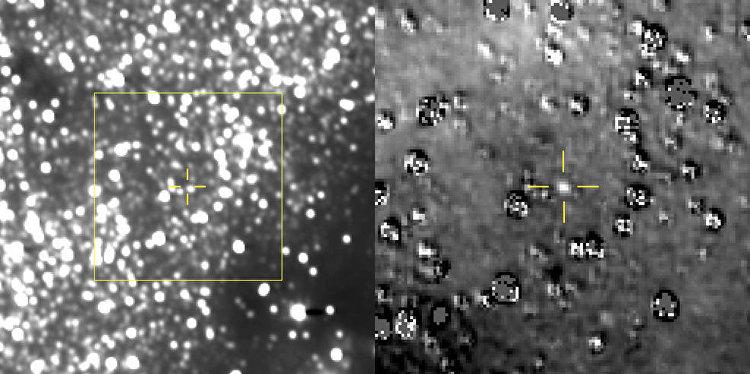 Foto do planeta anão Ultima Thule, captada pela sonda New Horizons