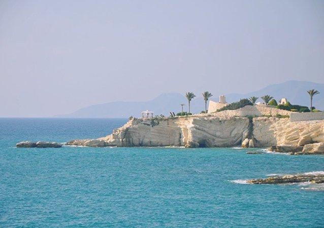 Palácio da família presidencial, perto de Latakia