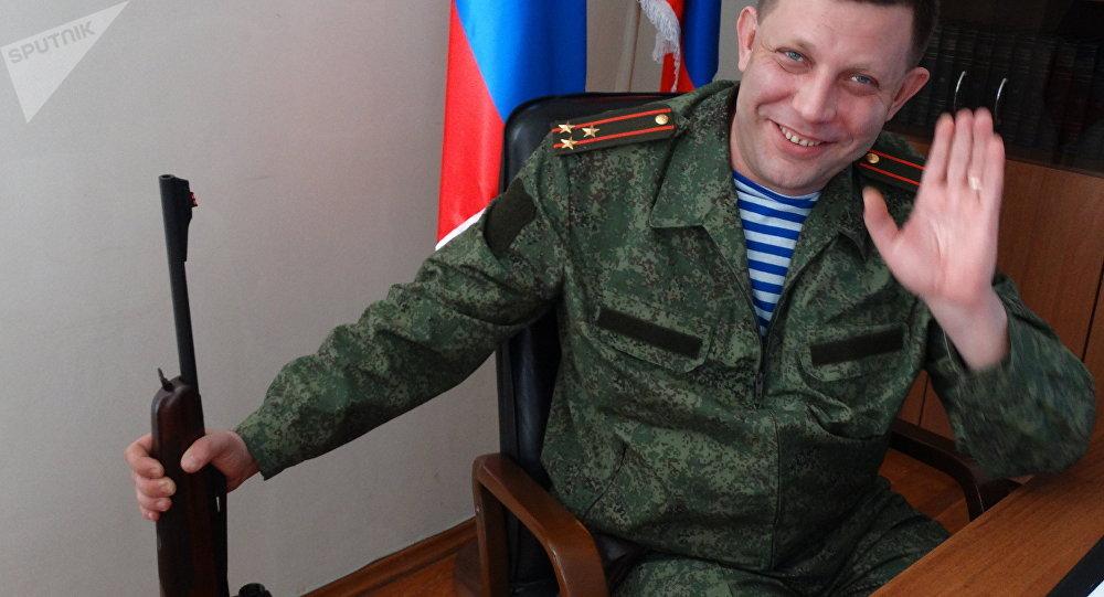 Alexander Zakharchenko, líder da República Popular de Donetsk (RPD)