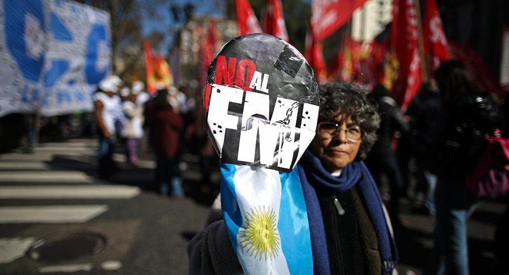 Manifestação na Argentina contra o FMI