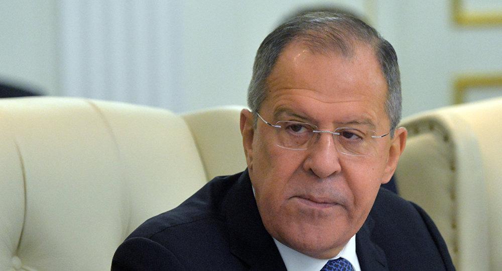 Ministro das Relações Exteriores da Federação da Rússia, Sergei Lavrov, durante cúpula da Organização do Acordo de Segurança Coletiva em Minsk, em 30 de novembro de 2017