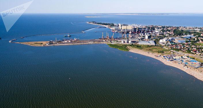 Um porto no mar de Azov