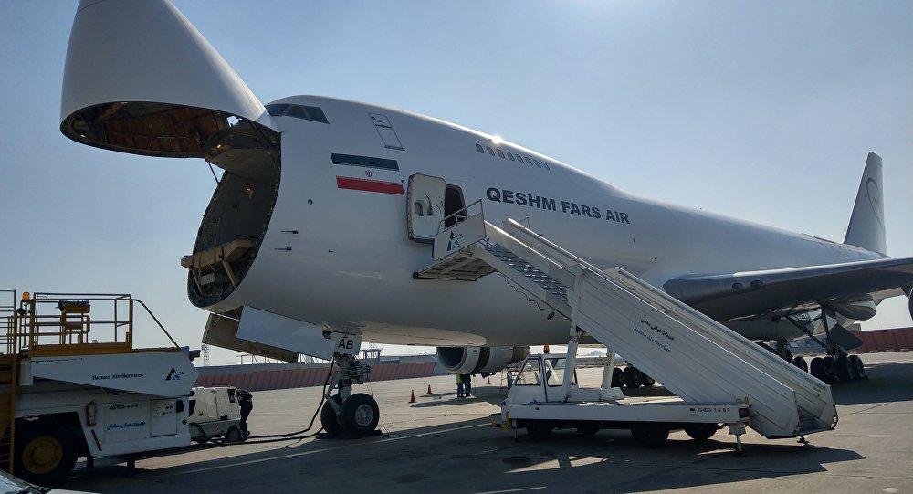 Avião da companhia aérea iraniana Qeshm Fars Air