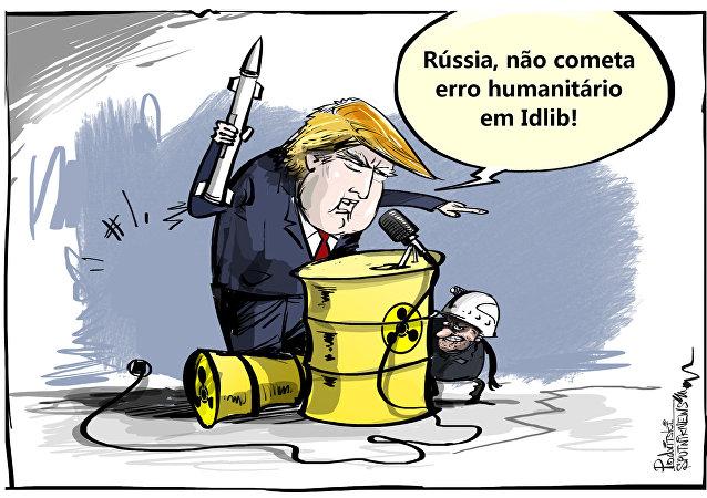 Trump dando instruções que ele mesmo viola