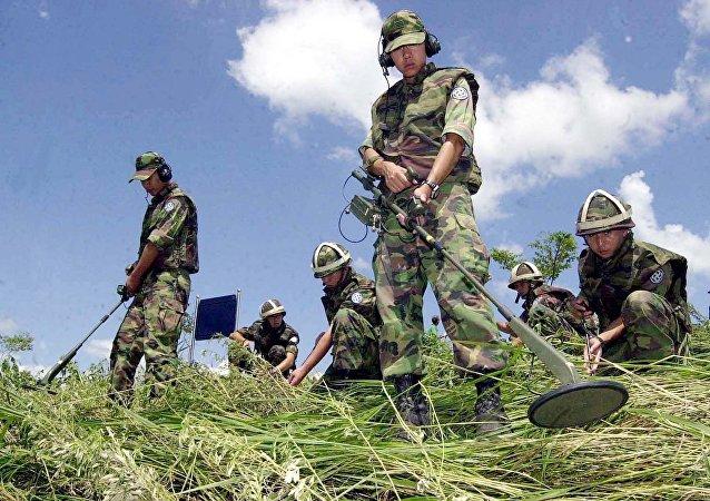 Sul-coreanos procuram minas
