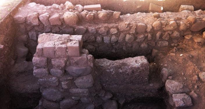 Fragmentos de uma parede do Palácio de Justiça de Cusco, Peru