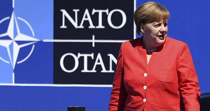 German Chancellor Angela Merkel arrives for the NATO summit in Brussels
