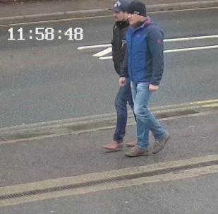 Foto de Ruslan Boshirov e Aleksandr Petrov, acusados por Londres de terem envenenado os Skripal, divulgada pela Polícia Metropolitana de Londres em 5 de setembro de 2018