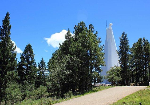 O Observatório Solar Nacional, em Sunspot, no Novo México