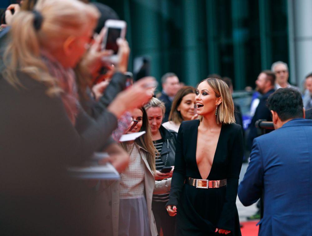 Atriz Olivia Wilde chegando ao Festival Internacional de Cinema de Toronto, Canadá, em 8 de setembro de 2018
