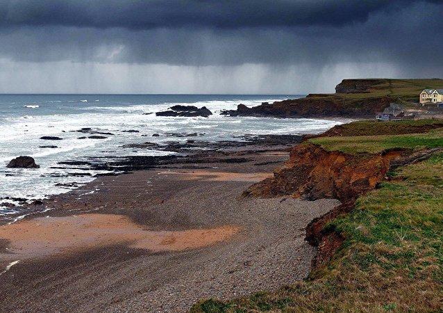 Condado de  Cornualha no sudoeste do Reino Unido