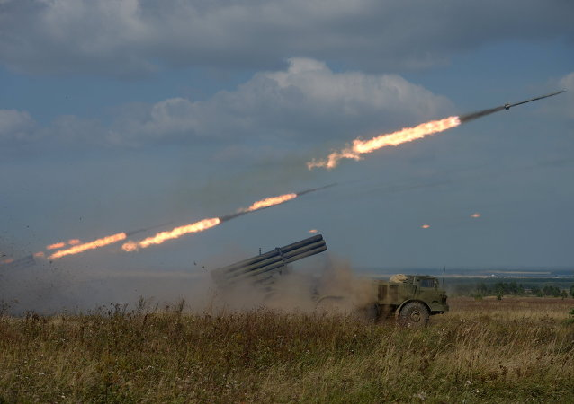 Lançadores múltiplos de foguetes russos Uragan