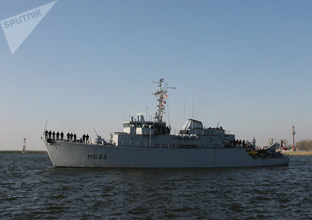 Um navio da Marinha francesa