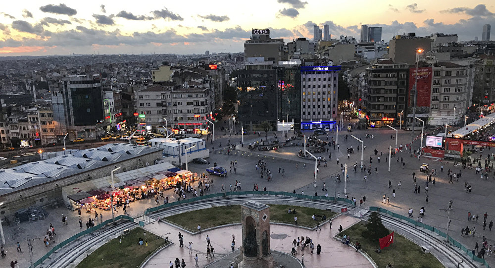 Praça Taksim no centro de Istambul (arquivo)