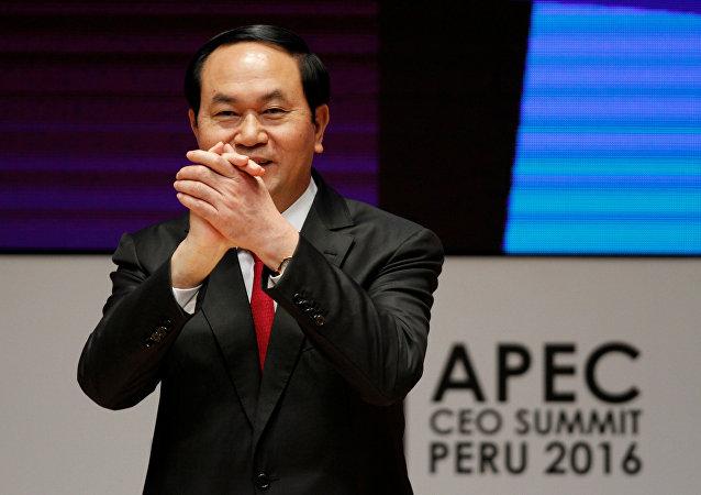 Presidente do Vietnã, Tran Dai Quang, durante cúpula da Cooperação Econômica Ásia-Pacífico (APEC), em Lima, Peru, em 19 de novembro 2016