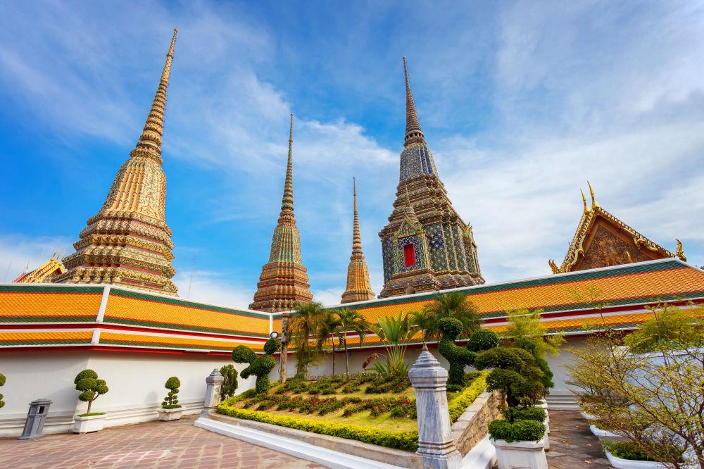 O Wat Pho ou Templo do Buda Reclinado, Bangkok (Tailândia)