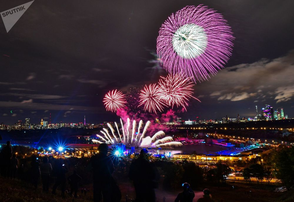 Cerimônia de encerramento do festival internacional Círculo de Luz em Moscou.